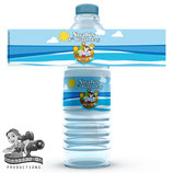 Noah's Ark Water Bottle Label