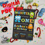 Monster Invite  - DIGITAL PDF FILE