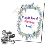 Milestone Cards: Purple Florals