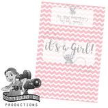 Elephant - Pink; Baby Shower/Sprinkle; Choc Wrapper