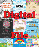 Big Top Invites  - DIGITAL PDF FILE