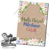 Milestone Cards: Multi Florals