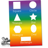 Shapes Poster; Rainbow