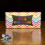 Chevron Rainbow; Choc Wrapper