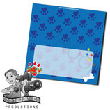 Food Tent Cards  - Blue, Red, Yellow Paw Print