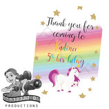 Unicorn; Cartoon Gift Tags