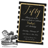 Black, White & Gold  Invites