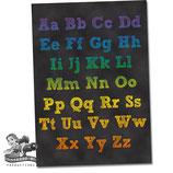 Alphabet Poster; Chalkboard