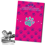 Pink, Purple, Aqua Paw Print; Choc Wrapper