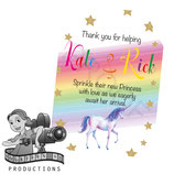 Unicorn; Watercolour Gift Tags