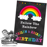 A3 Posters: Chalkboard Rainbow