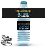 Music Water Bottle Label