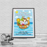Noah's Ark; A4 Baby Bio Poster