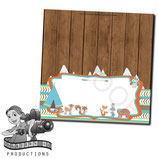 Food Tent Cards  - Woodland Animals; DIGITAL PDF FILE