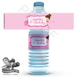 Ballet Top Water Bottle Label