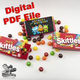 Monster Skittles Box Wrapper; Digital PDF File