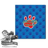 Blue, Red, Yellow Paw Print; M&M Tube Wrapper