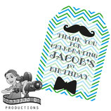 Little Man Green, Blue & White Gift Tags