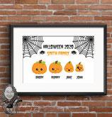 Halloween Family Wall Print