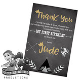 Wild One; Monochrome: Thank You Cards