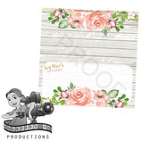 Food Tent Cards  - Floral & Timber