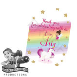 Unicorn & Fairy Cartoon Gift Tags
