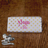 Pink & Gold Polkadot; Choc Wrapper