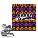 Halloween Pattern; M&M Tube Wrapper