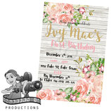 Floral & Timber  Invites