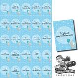 Milestone Cards: Elephant, Blue