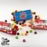 Blue, Red & Yellow Paw Print Skittles Box Wrapper