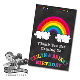 Chalkboard Rainbow; Party Bag Label