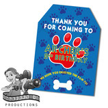 Blue, Red, Yellow Paw Print Gift Tags