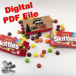 Bear Skittles Box Wrapper; Digital PDF File