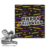 Halloween Text; M&M Tube Wrapper
