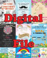 Music Invites  - DIGITAL PDF FILE