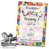 Watercolour Dots Invites