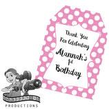 Pink & White Polkadot Gift Tags