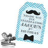 Little Man Blue & White Gift Tags