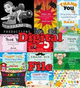 Pirate Thank You Cards - DIGITAL PDF FILE