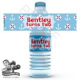 Nautical; Water Bottle Label