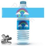 Butterfly Top Water Bottle Label; Digital PDF File