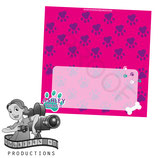Food Tent Cards  - Pink, Purple, Aqua Paw Print; DIGITAL PDF FILE