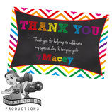 Chevron Rainbow Thank You Cards
