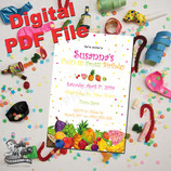 Tutti Frutti Invites  - DIGITAL PDF FILE