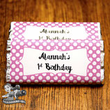 Pink & White Polkadot; Choc Wrapper