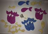 Glitter Mermaid Tail Shapes & Scatters