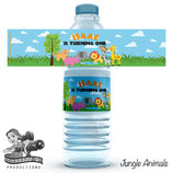 Jungle Animal: Water Bottle Labels