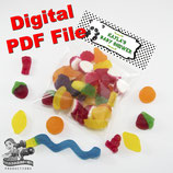 Panda Bag Toppers - Digital PDF File