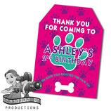Pink, Purple, Aqua Paw Print Gift Tags